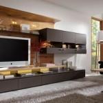 model mobila frumoasa living modern maro mat cu lemn