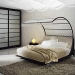 model pat cu baldachin design modern
