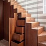 model scara interioara lemn cu sertare dedesubt