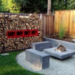 model semineu de exterior tip foc de tabara