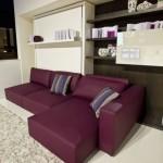 model sufragerie moderna decorata in alb si mov