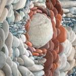 mozaic piatra naturala de rau detaliu perete decorativ