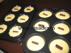 muffins inainte de coacere