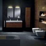 nisa perete deasupra toaletei baie moderna lux
