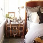 noptiera pat dormitor din valize vechi reconditionate