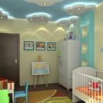 norisori din gips carton cu spoturi incastrate decor tavan camera copil