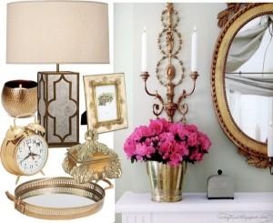 obiecte decorative din alama pentru living si dormitor