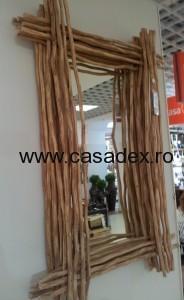Model de oglinda. Rustica, ingenioasa