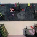 Proiect DIY – organizatoare decorative handmade din blugi vechi