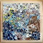 panou decorativ din hartie colorata reciclata