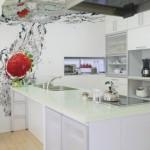 panou decorativ sticla imprimata digital perete bucatarie