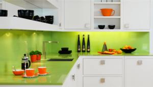 panou sticla decorativa verde
