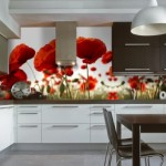 Bucatarii decorate cu panouri din sticla colorata, imprimate digital