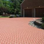 parcare beton colorat