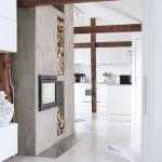 parchet alb interior casa moderna accente rustice