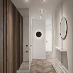 parchet lemn masiv si usi interior albe amenajare apartament 69 mp