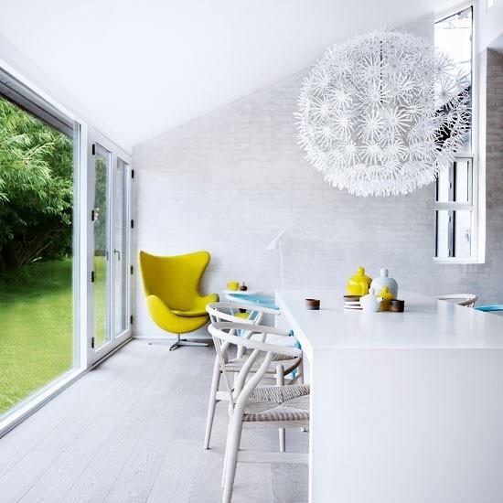 pardoseala dusumea alba interior living modern accente retro