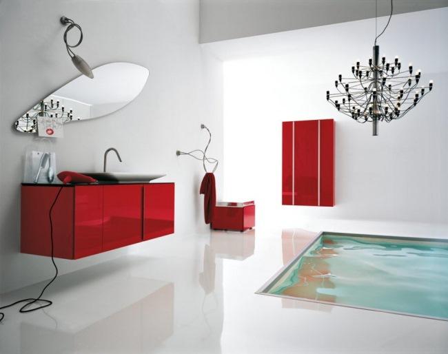 pardoseala epoxidica alba interior baie moderna lux