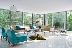 pardoseala epoxidica interior living vintage