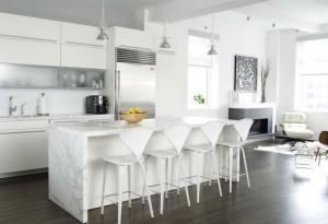 pardoseala wenge interior bucatarie si living amenajate in stil scandinav minimalist
