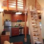 parter open space 25 mp bucatarie si living casa mica lemn