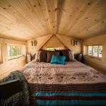 pat mansardat loft casuta mica lemn 10 mp