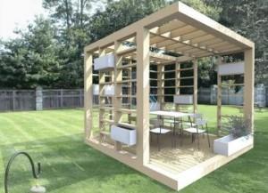 pavilion gradina lemn modern minimalist