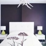 perete de accent dormitor modern minimalist