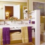 perete despartitor cu rafturi baie izolare wc