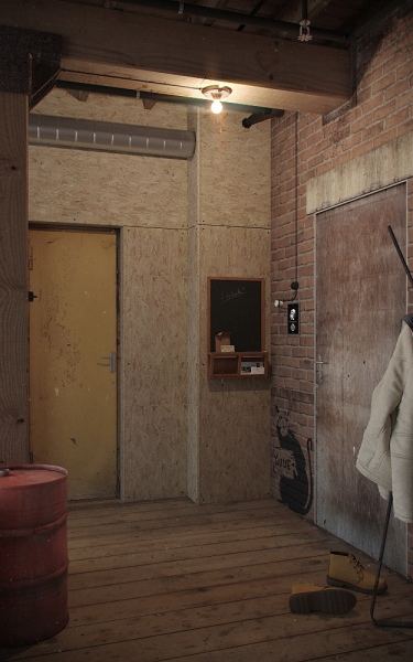 perete hol apartament placat osb stil industrial