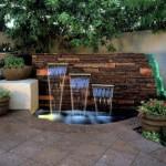 perete piatra cu cascate decorativa idei amenajare curte sau gradina