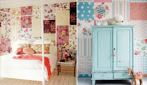 pereti flori dormitor