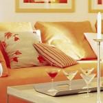 pernute decorative canapea moderna portocalie