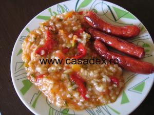 Pilaf de orez cu legume. Mancare de post