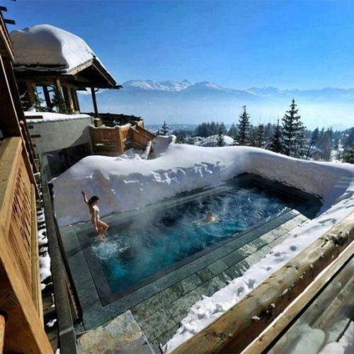 piscina le crans hotel