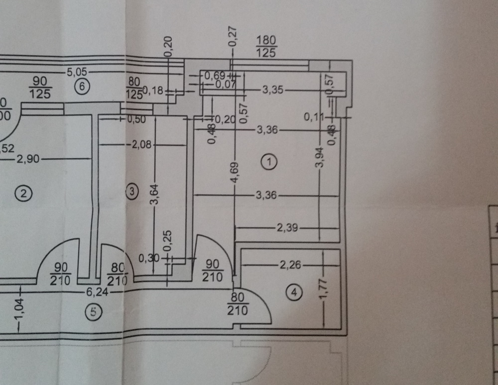 plan apartament cu sufragerie de amenajat