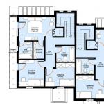 plan etaj locuinta bifamiliala 266 mp