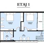 plan etaj proiect casa 145 mp