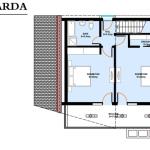 plan mansarda proiect casa 153 mp