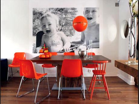 poza mare decor perete loc luat masa dining modern