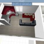 proiect 3d living open space casa