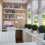 proiect amenajare birou in balcon apartament