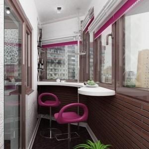 proiect amenajare loc de luat masa tip bar in balcon mic si ingust