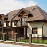 proiect casa duplex stil clasic parter si etaj cu garaje incluse