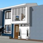 Proiect de casa moderna cu etaj. Descarca gratuit planurile