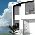 Proiect de casa parter si etaj, amprenta 55 mp. Descarca planurile