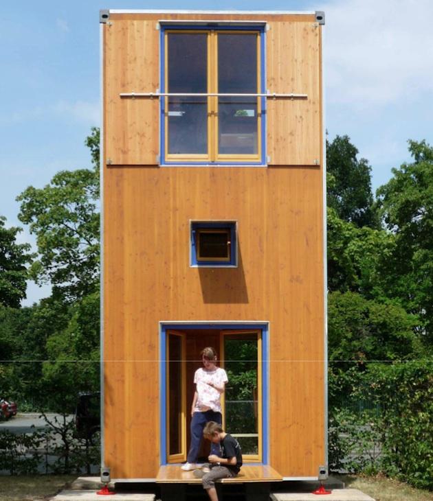 proiect casa mica modulara lemn
