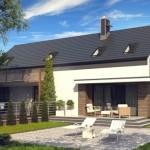 proiect casa moderna tip duplex locuinta pentru doua familii
