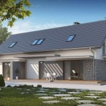 proiect duplex asimetric parter si mansarda o locuinta mare si una mica