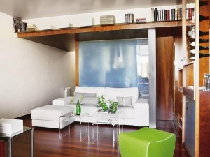 raft decorativ montat sub tavan living modern